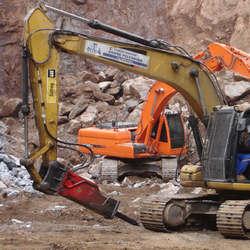 Martelos hidráulicos para escavadeiras