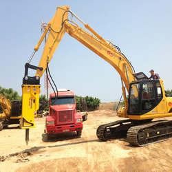 Locação de rompedor hidráulico para escavadeira em sp