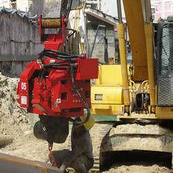 Martelos vibratórios para escavadeiras